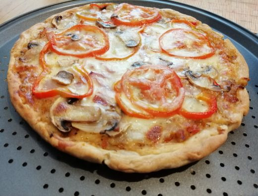 pizza casera vegetariana