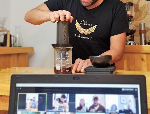 clase virtual preparación café