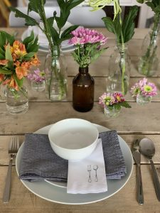 detalles de mesa cena